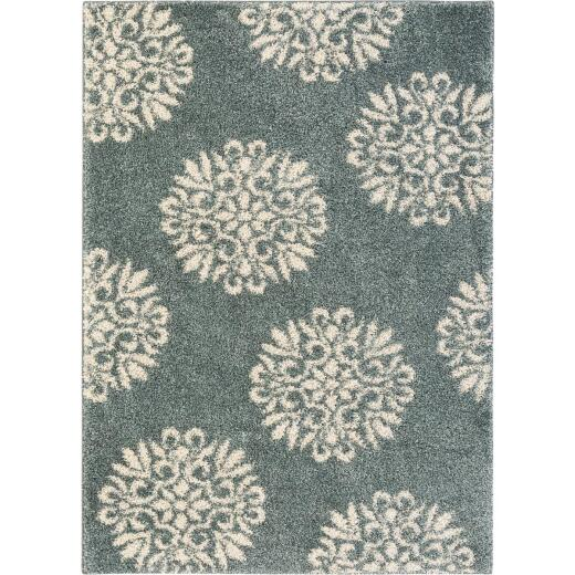 Mohawk Home Exploded Medallions Blue 40 In. x 66 In. Accent Rug
